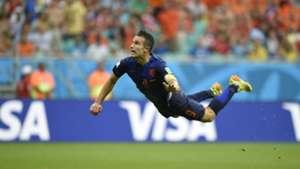 Robin van Persie Netherlands Spain WC 2014