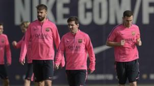 Gerard Piqué Lionel Messi Thomas Vermaelen