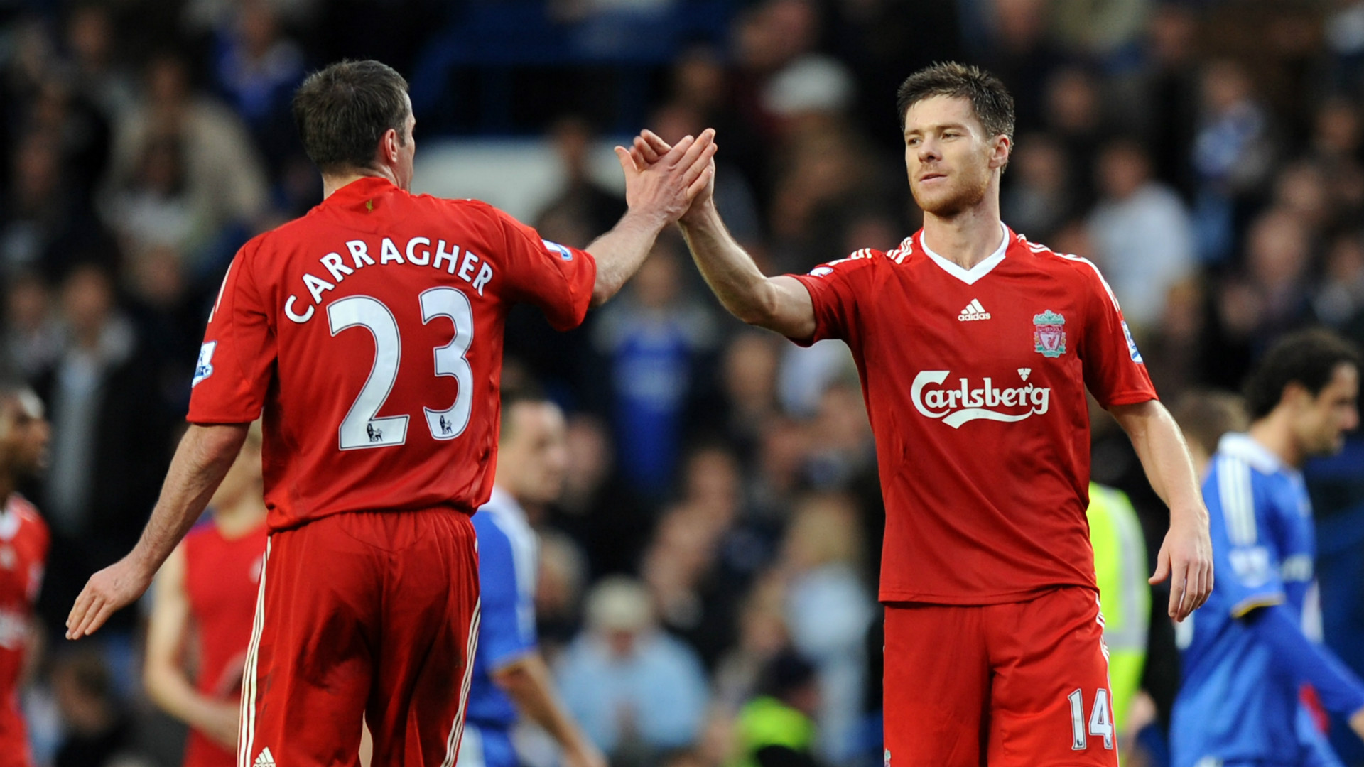 Xabi Alonso Jamie Carragher Liverpool