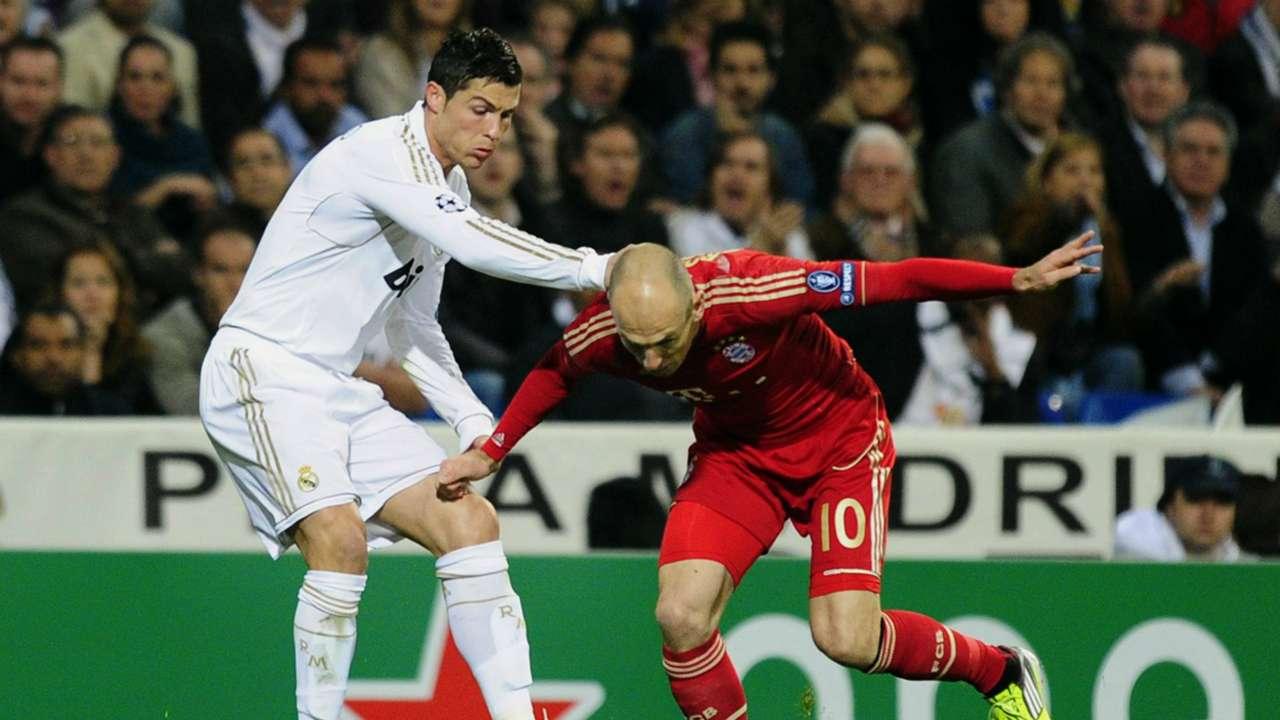 Cristiano Ronaldo y Arjen Robben