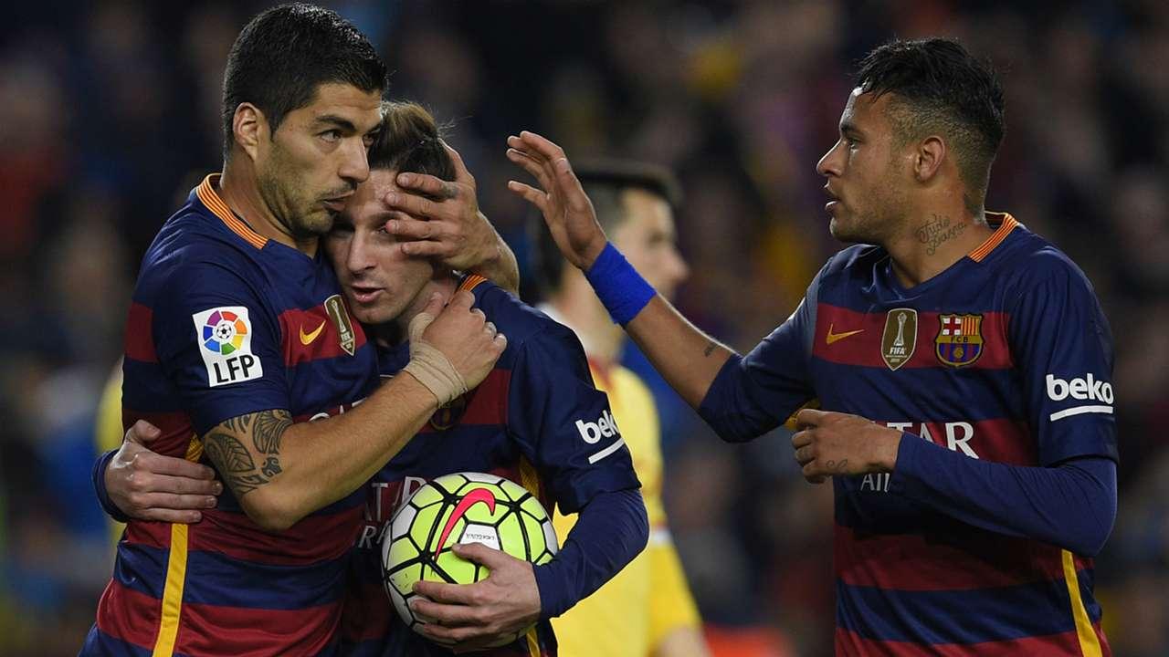 Neymar Lionel Messi Luis Suarez Barcelona Sporting Gijon Liga BBVA