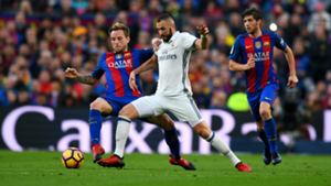 Sergi Roberto Karim Benzema Ivan Rakitic Barcelona Real Madrid La Liga