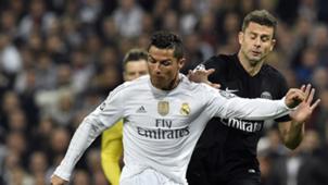 Cristiano Ronaldo Thiago Motta Real Madrid PSG Champions League 03112015