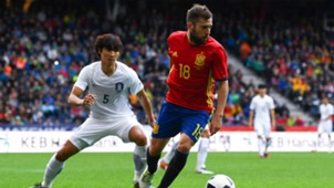 Jordi Alba Taehwi Kwak Spain Korea Friendly 01062016