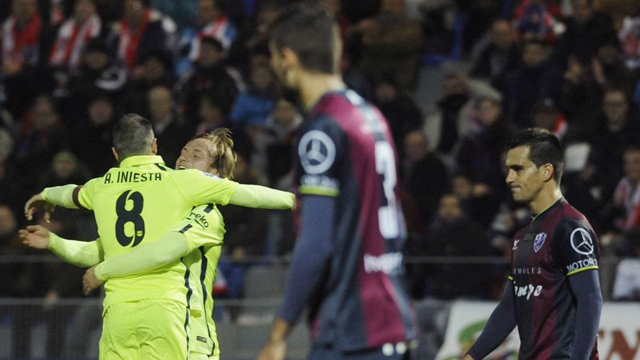 Andres Iniesta Ivan Rakitic Huesca Barcelona Copa del Rey 12032014