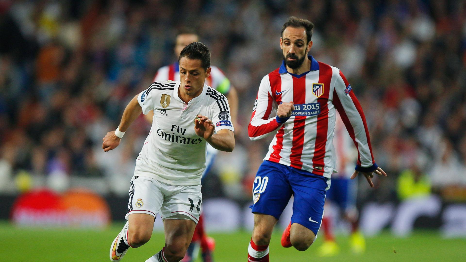 Chicharito Hernandez Juanfran Real Madrid Atletico de Madrid Champions League 04222015