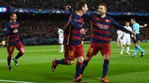 Lionel Messi Jordi Alba Barcelona Roma Champions League