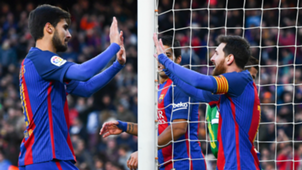 Andre Gomes Lionel Messi Barcelona Las Palmas La Liga