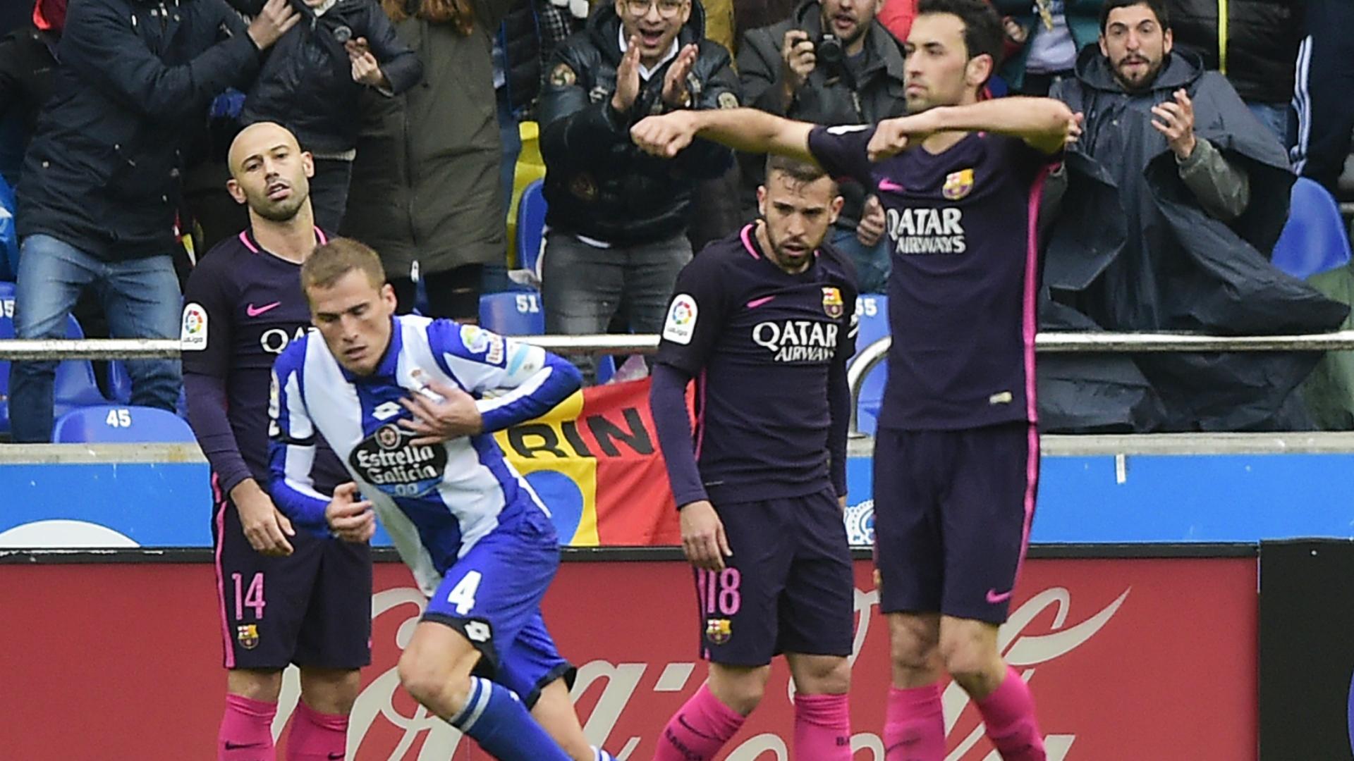 Alex Bergantinos Deportivo Coruna Barcelona La Liga