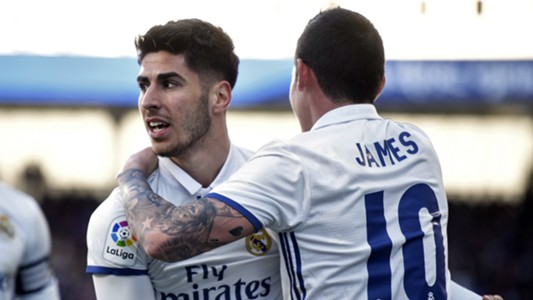 Marco Asensio James Rodriguez Eibar Real Madrid LaLiga 04032017