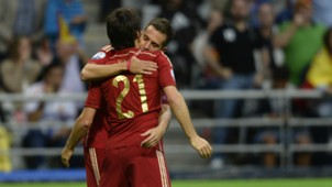 Jordi Alba David Silva Spain Slovakia Euro Qualifier
