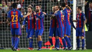 Barcelona celebrates Barcelona Borussia Moenchengladbach Champions League