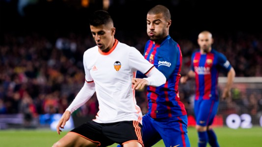 Rafinha Joao Cancelo Barcelona Valencia La Liga