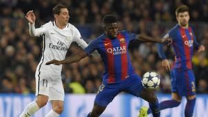 Angel Di Maria Samuel Umtiti Barcelona PSG UEFA Champions League 08032016