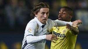 Luka Modric Cedric Bakambu Villarreal Real Madrid LaLiga 26022017