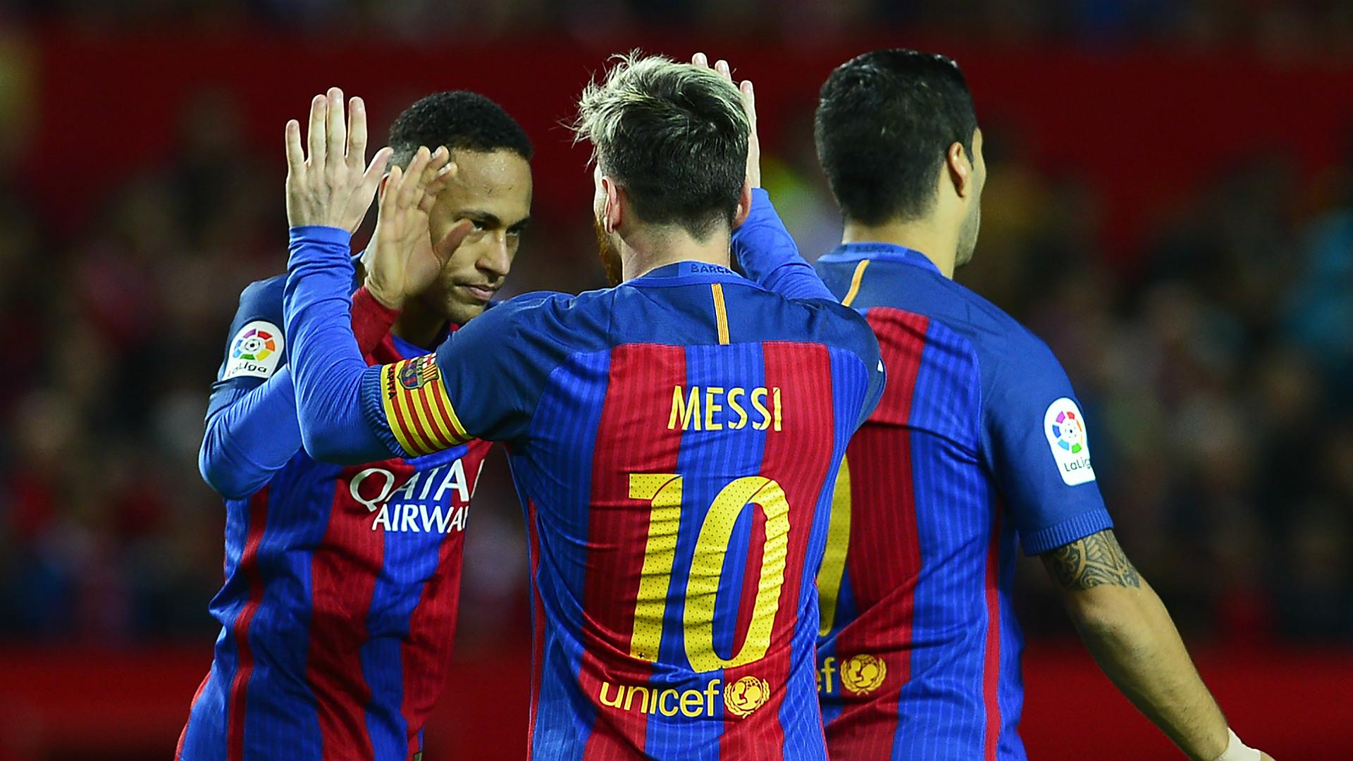 Neymar Messi Suarez Sevilla Barcelona LaLiga 06112016