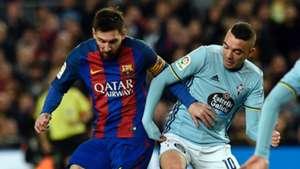 Lionel Messi Iago Aspas Barcelona Celta La Liga