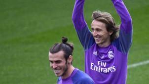 Luka Modric Gareth Bale Real Madrid training 5112016