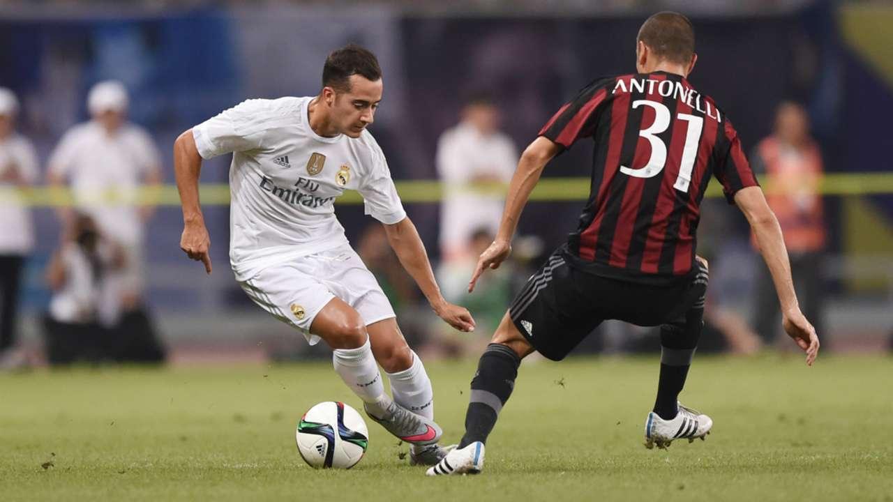Lucas Vazquez Luca Antonelli Real Madrid Milan friendly