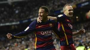 Neymar Andrés Iniesta Real Madrid Barcelona La Liga