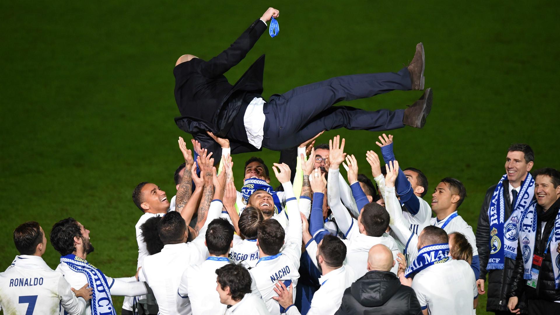 Zinedine Zidane Real Madrid Kashima FIFA Club World Cup final 18122016