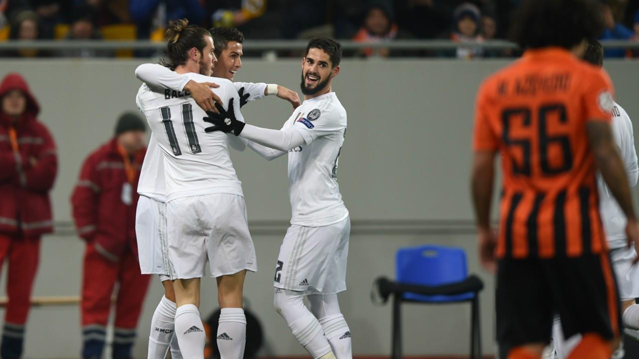Cristiano Ronaldo Gareth Bale Isco Alarcón Shakhtar Donetsk Real Madrid Champions League