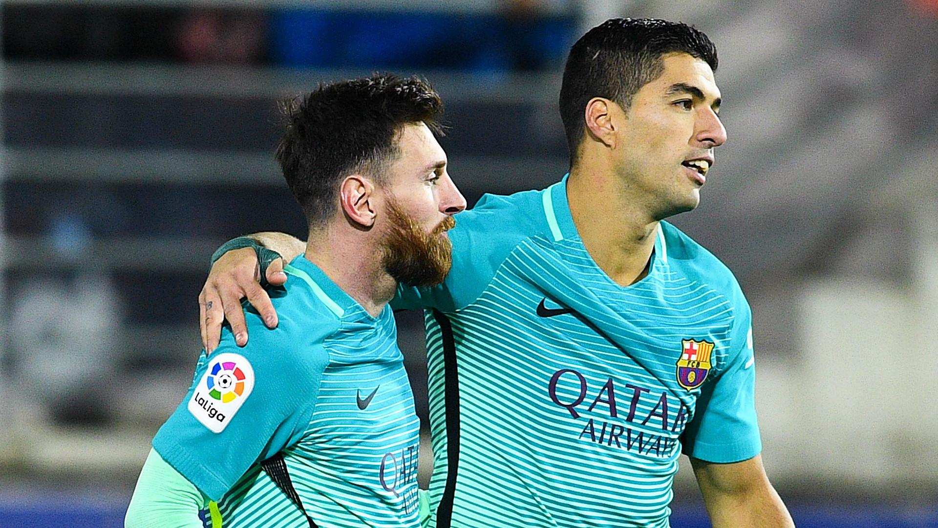 Lionel Messi Luis Suarez Eibar Barcelona LaLiga 22012017
