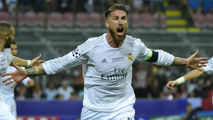Sergio Ramos Real Madrid Atletico Champions League 2016