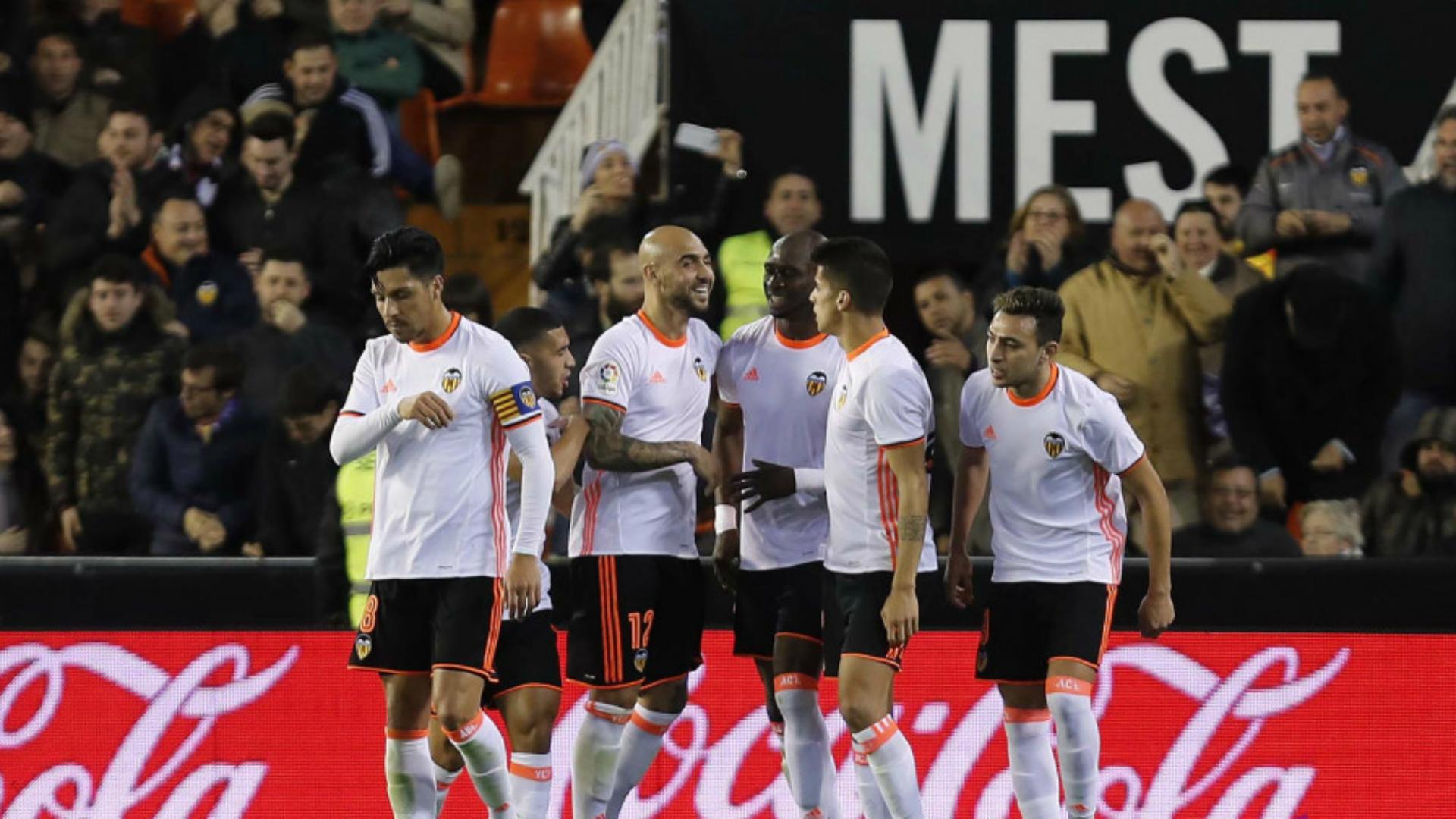 Valencia celebrates Valencia Leganes La Liga