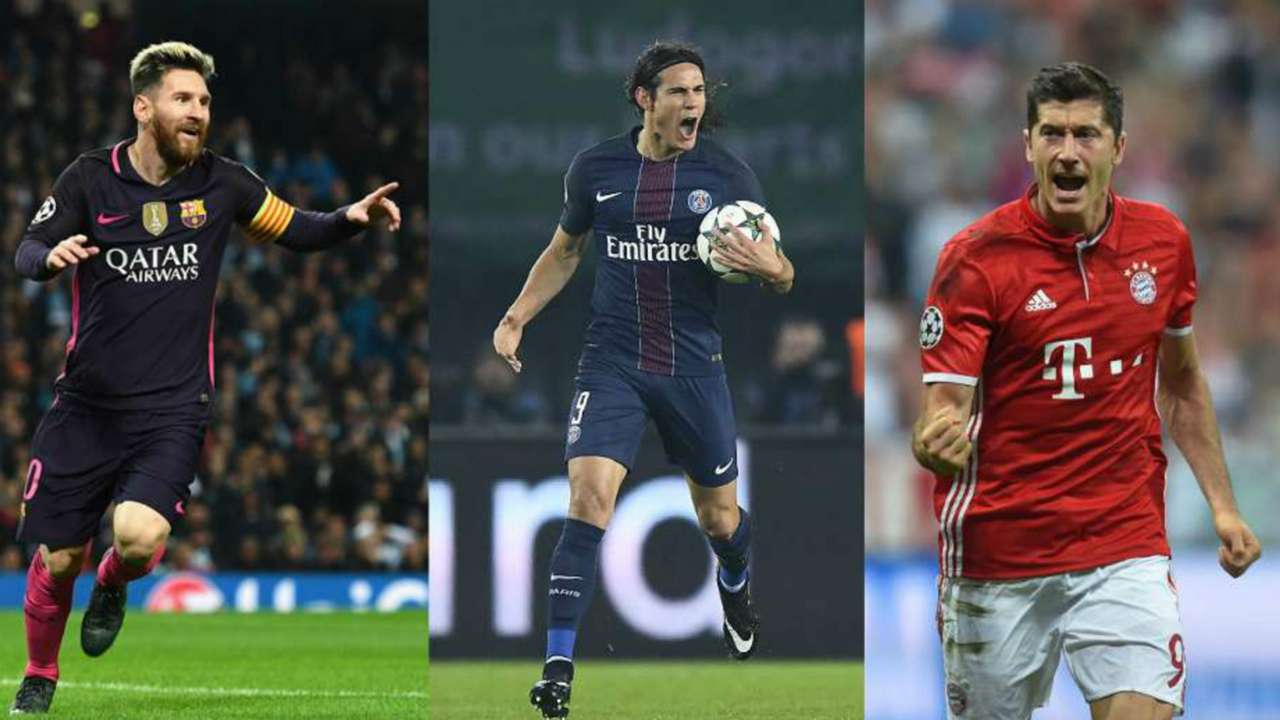 Cavani Messi goleadores