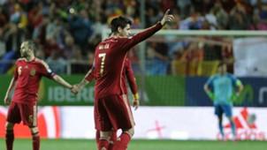 Iniesta Morata Euro 2016 qualifying Spain v Ukraine