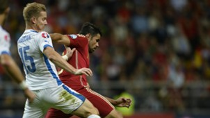 Diego Costa Tomas Hubocan Spain Slovakia Euro Qualifier
