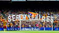 camp nou independentist flags