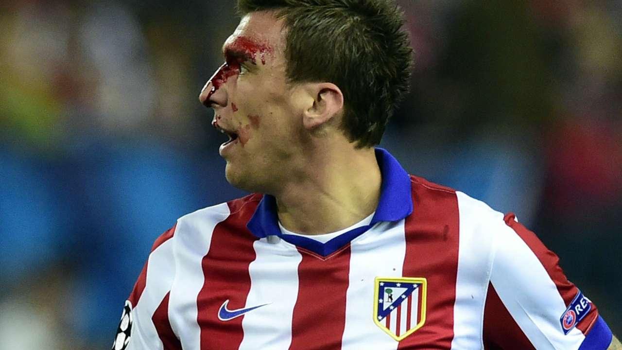 Mario Mandzukic Atletico de Madrid Real Madrid Champions League 04142015