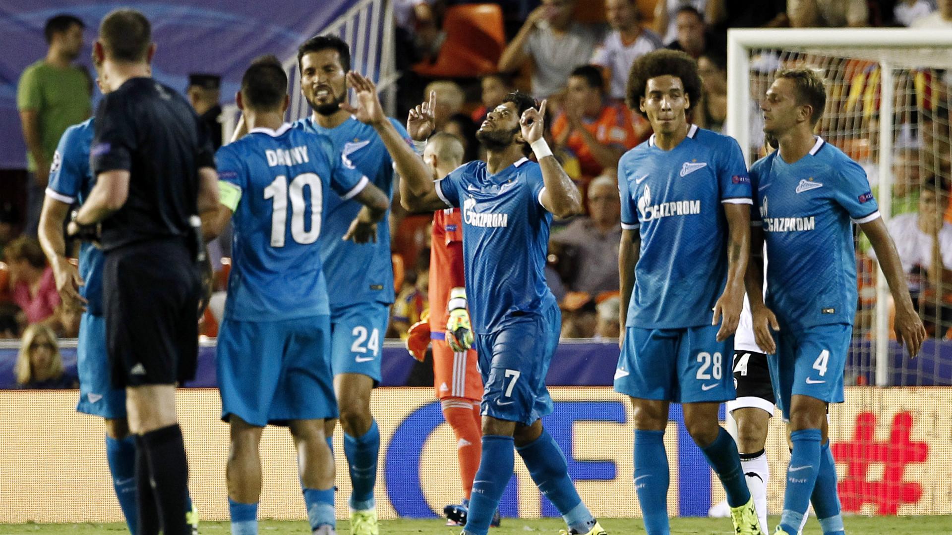 Hulk Garay Danny Valencia Zenit Champions League
