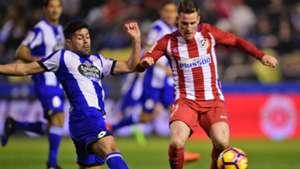 Juanfran Kevin Gameiro Deportivo Coruna Atletico Madrid LaLiga 02032017