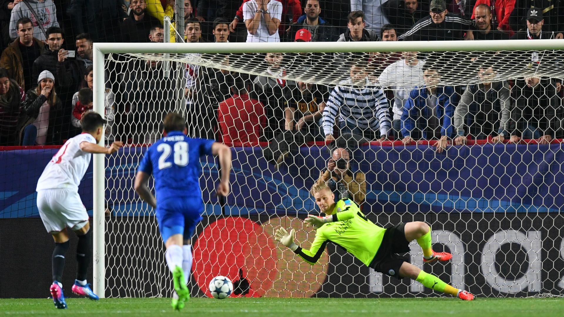 Joaquin Correa Kasper Schmeichel Sevilla Leicester Champions League