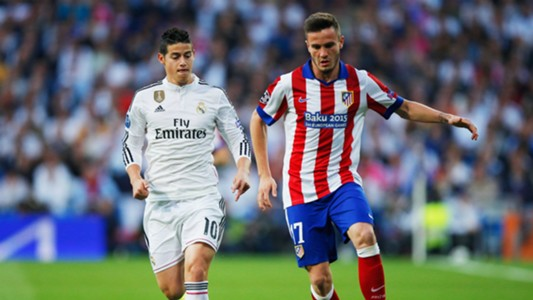 James Rodriguez Saul Niguez Real Madrid Atletico de Madrid Champions League 04222015