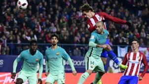 Antoine Griezmann Javier Mascherano Atletico Madrid Barcelona Copa del Rey
