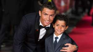 Cristiano Ronaldo and son movie premiere