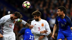 Gerard Pique Sergio Ramos France Spain 28032017