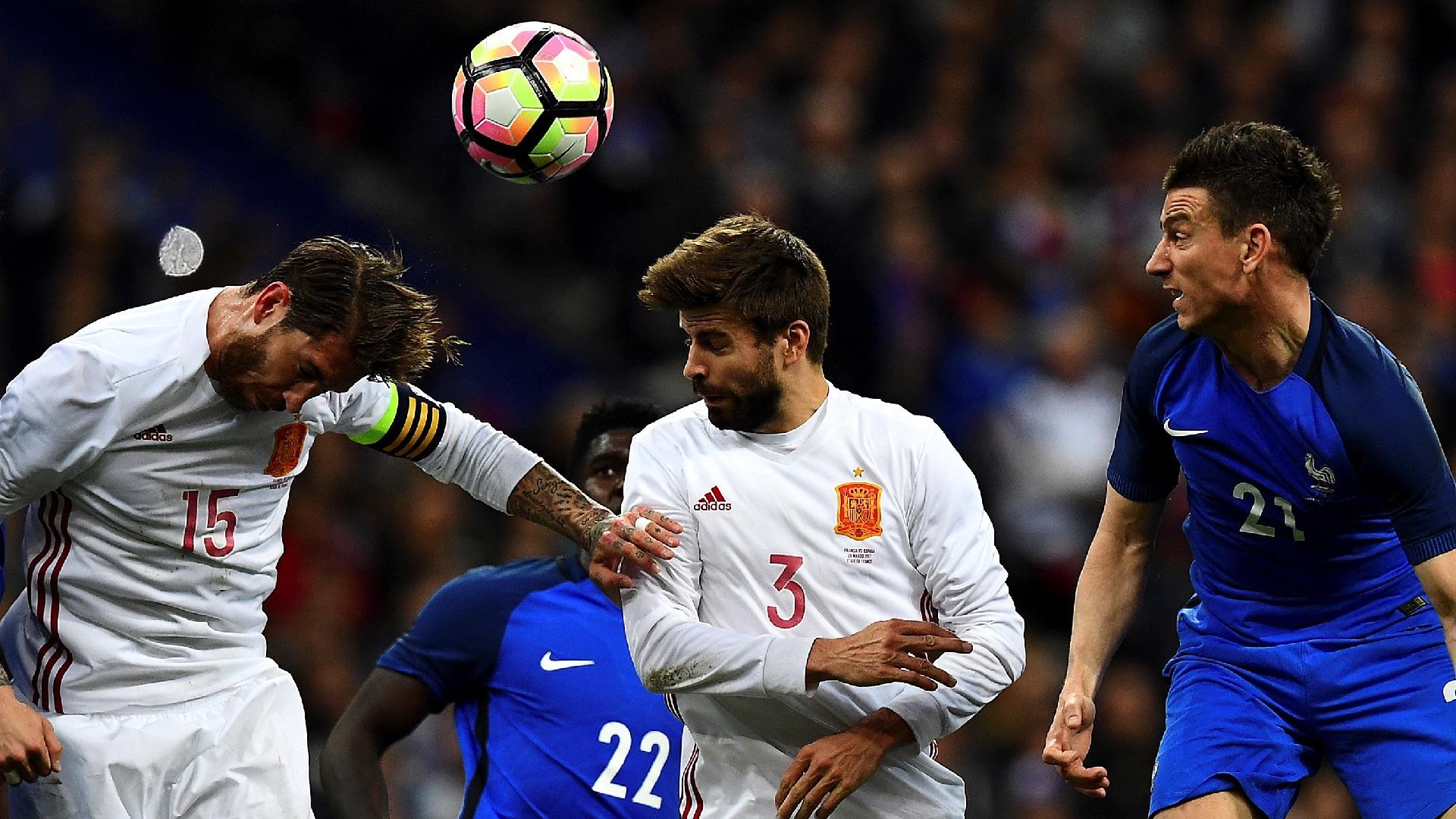 Gerard Pique Sergio Ramos France Spain 28032017