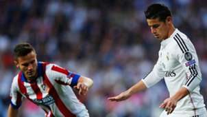 Saul Niguez James Rodriguez Real Madrid Atletico de Madrid Champions League 04222015