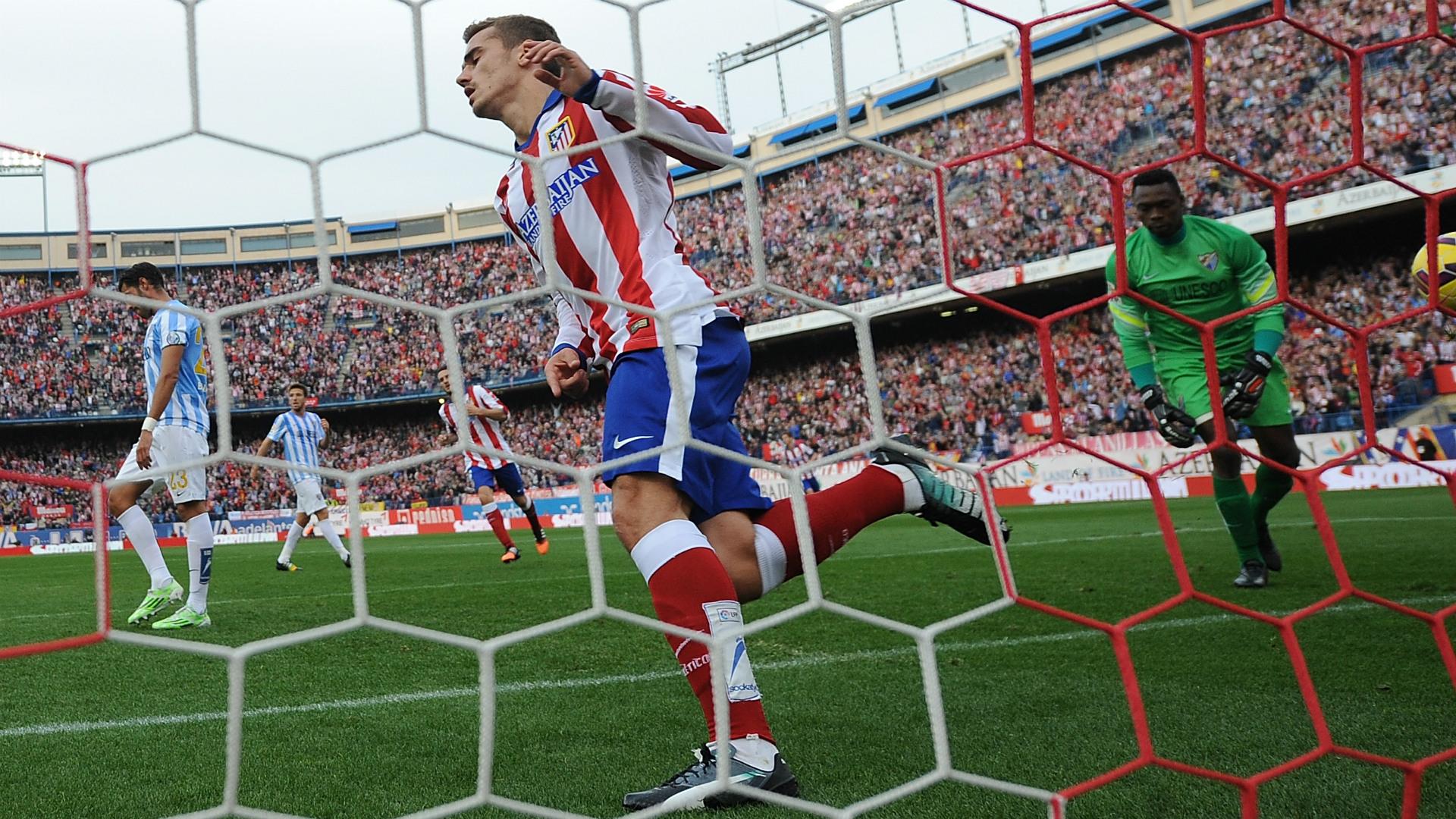 Antoine Griezmann Carlos Kameni Atletico Madrid Malaga Liga BBVA 11222014