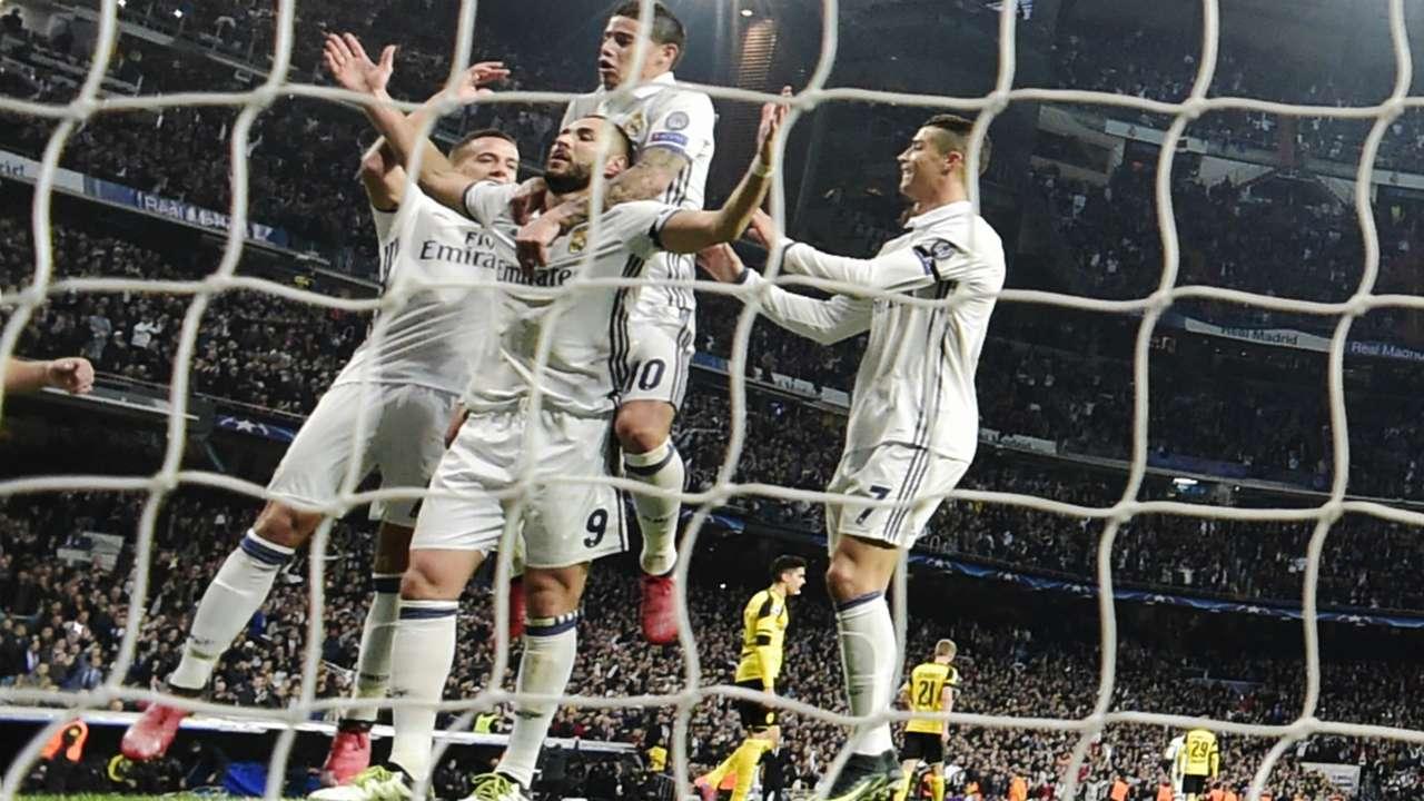 Benzema James Ronaldo Real Madrid Borussia Dortmund Champions League