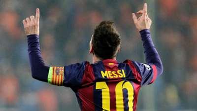 Lionel Messi APOEL Nicosia Barcelona UEFA Champions League 11252014