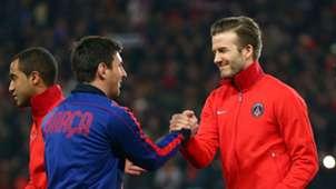 Lionel Messi David Beckham FC Barcelona PSG