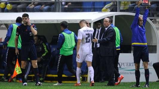 Rafa Benitez Denis Cheryshev Cadiz Real Madrid Copa del Rey 2122015