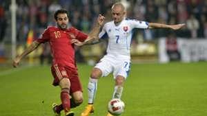 Vladimir Weiss Cesc Fabregas Slovakia Spain Euro 2016 Qualifier