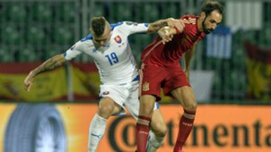 Juanfran Kucka Slovakia Spain EURO 2016 Qualifier